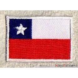 Patche écusson petit drapeau Chili