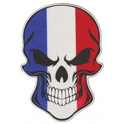 Patche dorsal thermocollant Skull France