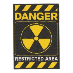 Patche écusson thermocollant Danger Restricted Area
