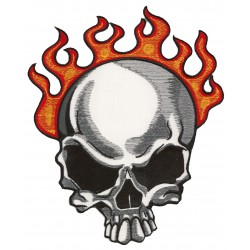 Patche dorsal thermocollant Fire Skull
