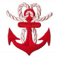 Patche écusson thermocollant Ancre Marine