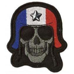 Patche écusson Skull Biker France