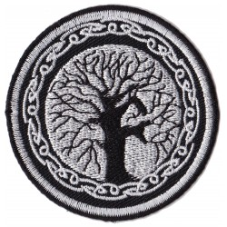 Patche écusson thermocollant arbre de vie celte
