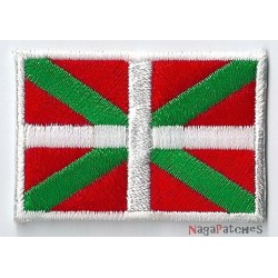 Toppa  bandiera piccolo termoadesiva Paesi Baschi