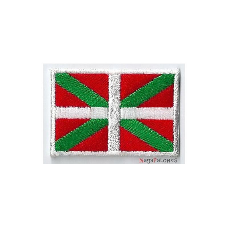 Aufnäher Aufbügler Patch fahne flaggen baskenland spanien euskadi kreuzen