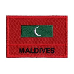 Aufnäher Patch Flagge Malediven