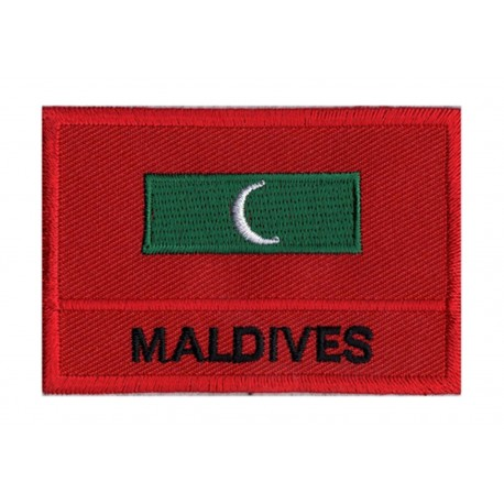 Parche bandera Maldivas