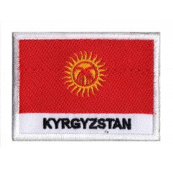 Aufnäher Patch Flagge Kirgisistan