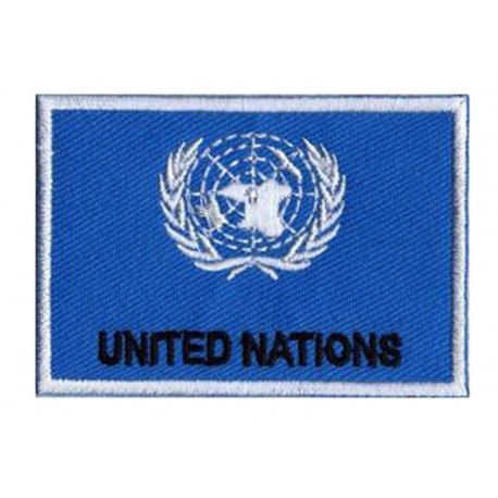 Patche drapeau Nations Unies ONU
