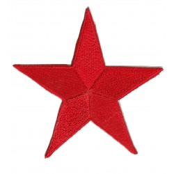 Iron-on Patch red star