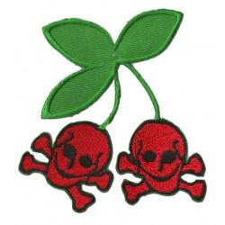 Iron-on Patch Cherry skull