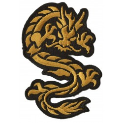 Aufnäher Patch Bügelbild goldener Drache