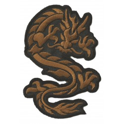 Iron-on Patch golden Dragon