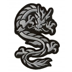 Patche écusson thermocollant Dragon doré