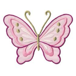 Patche écusson thermocollant Papillon Rose