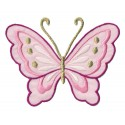 Iron-on Patch pink butterfly
