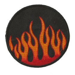 Patche écusson thermocollant boule de feu