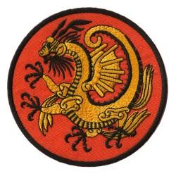 Patche écusson thermocollant Dragon d'or