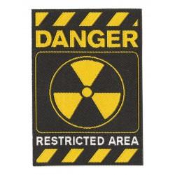 Toppa  termoadesiva Danger Restricted Area