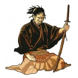 Parche trasero grande termoadhesivo Samurai