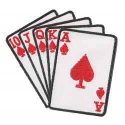Patche écusson thermocollant Poker