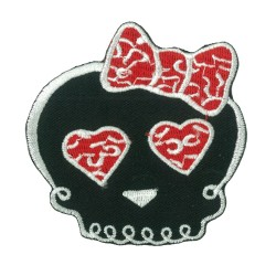 Iron-on Patch Lady Skull