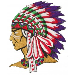 Iron-on Patch Indian