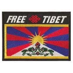 Aufnäher Patch Bügelbild Free Tibet