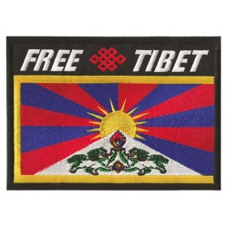 Patche écusson thermocollant Free Tibet
