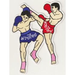 Aufnäher groß Patch Bügelbild Muay Thai Kick