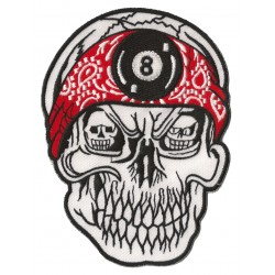 Iron-on Patch  8 skull medium