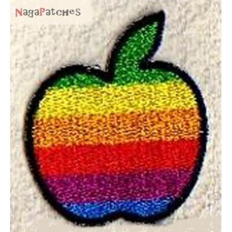 Aufnäher Patch Bügelbild Apfel