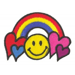 Iron-on Patch Smiley Rainbow