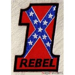 Aufnäher Patch Bügelbild Number 1 rebel