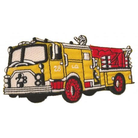 Patche écusson thermocollant Camion Pompier