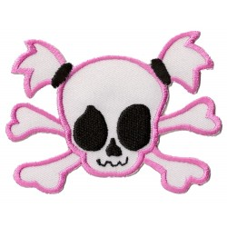 Patche écusson thermocollant Lady Pink Skull