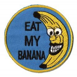 Aufnäher Patch Bügelbild Eat my Banana