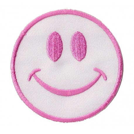 Patche écusson thermocollant Smiley