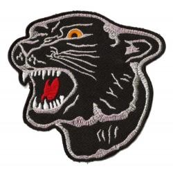 Aufnäher Patch Bügelbild  schwarzer Panther