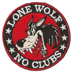 Patche écusson thermocollant Lone Wolf No Clubs