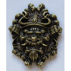 Masque bronze Chinois broche badge pins en métal coulé