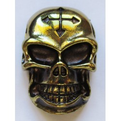 Cast metal badge Skull
