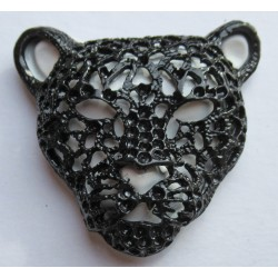 Panther cast metal badge
