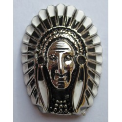 Indian Sioux cast metal badge