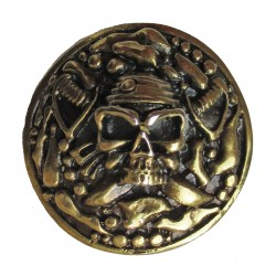 Pirate cast metal badge