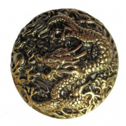 Dragon cast metal badge