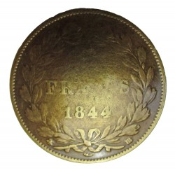 Francs 1844 cast metal badge