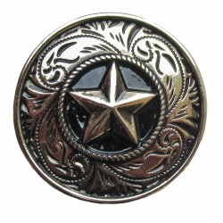 Star cast metal badge