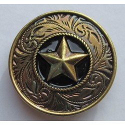 étoile broche badge pins en métal coulé
