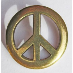 Peace and Love cast metal badge